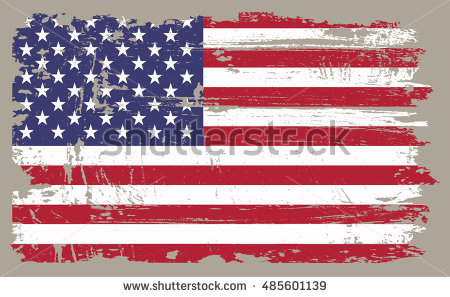 Distressed American Flag Stock Images, Royalty.