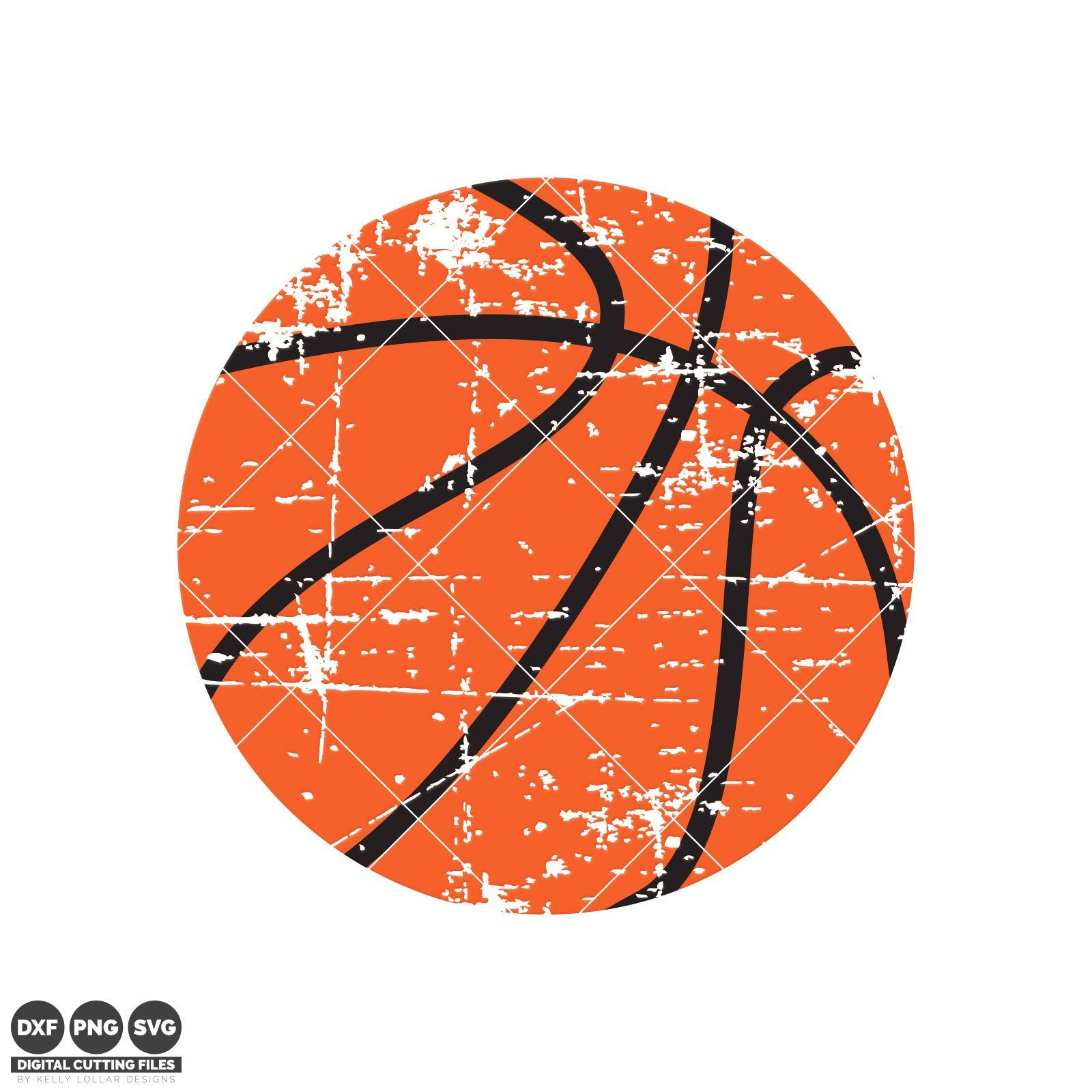 Distressed Basketball svg file perfect for a retro vibe t.