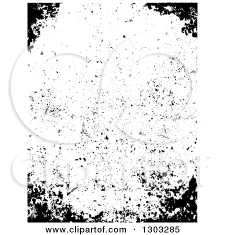 Clipart of a Border of Distressed Grunge.