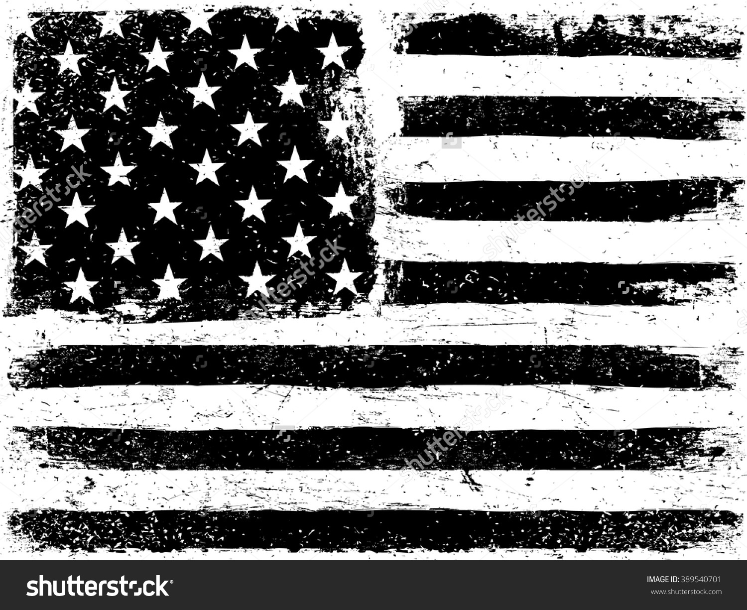 Black and white flag distressed clipart.