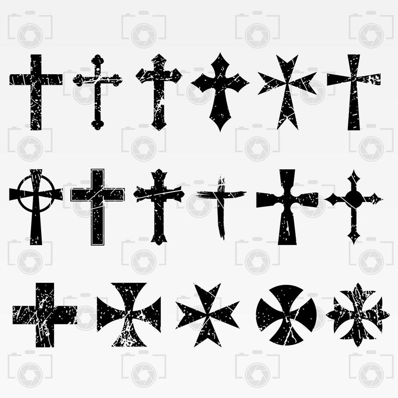 Distressed Cross svg.