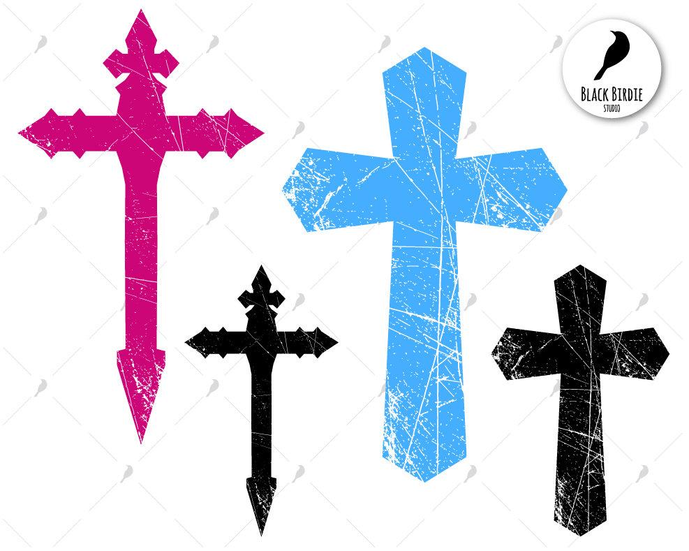 Distressed cross svg, distressed cross clipart, christian svg, easter cross  svg, cricut silhouette.