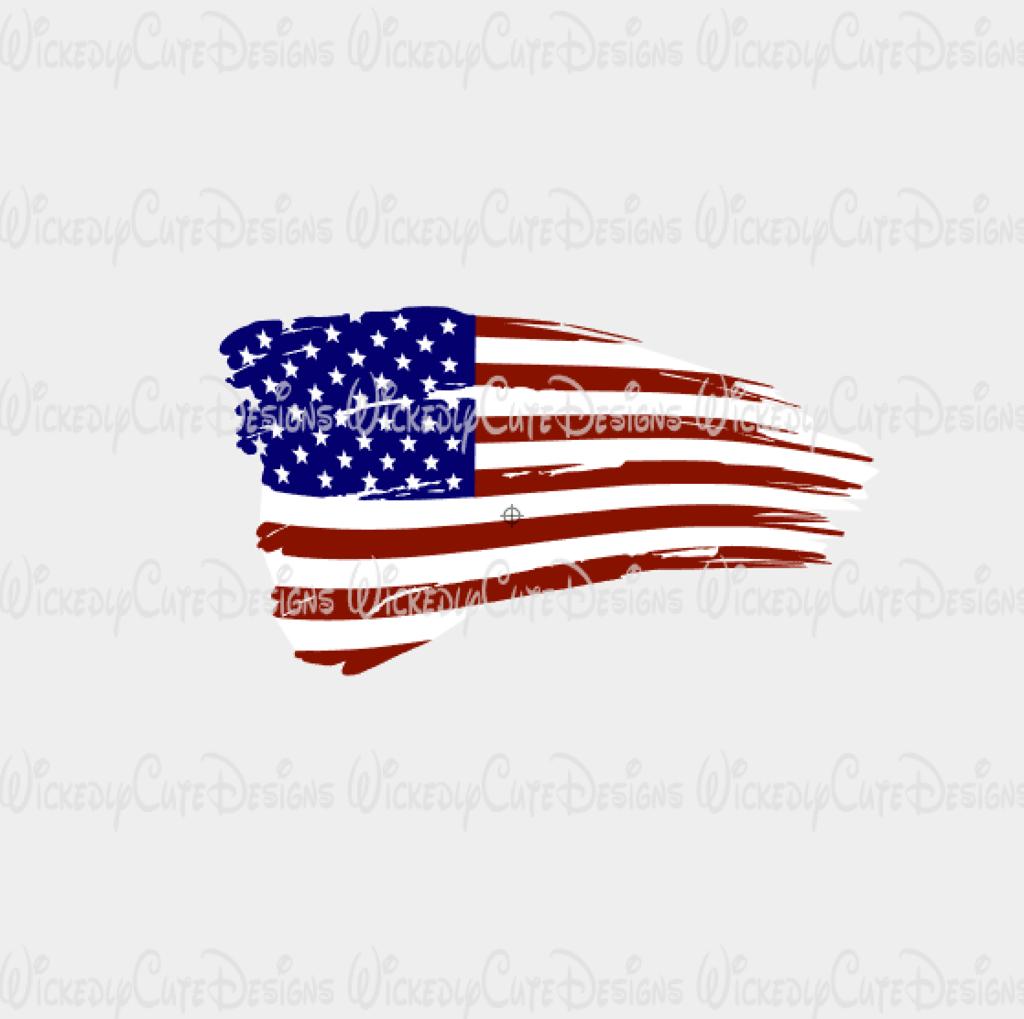 Distressed American Flag SVG, DXF, EPS, PNG Digital File.