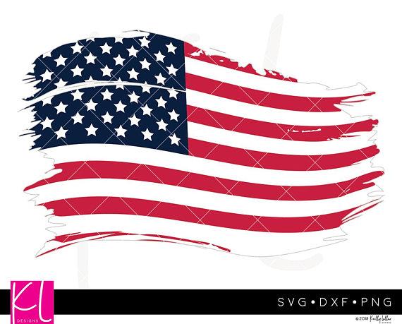 Distressed American Flag svg, Distressed Flag svg, Grunge Flag svg.