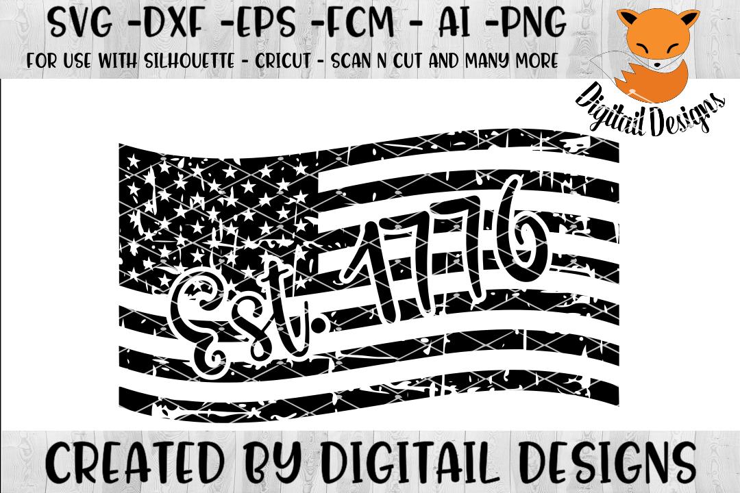 Distressed Flag SVG.