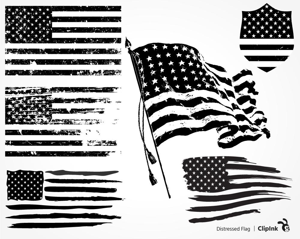 DISTRESSED US FLAG.