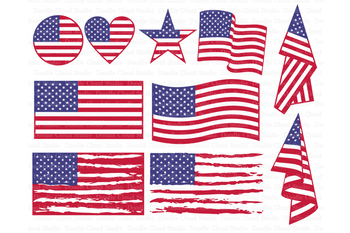 American flag SVG, Distressed USA Flag SVG Files..