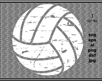Distressed Volleyball Clipart.