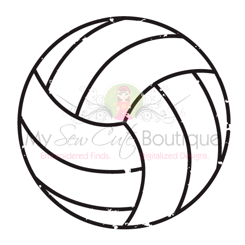 Distressed Volleyball SVG Files Grunge DXF Cut Designs.