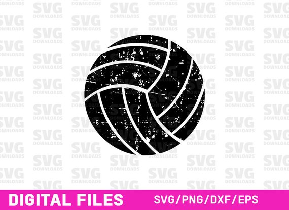 Download Free png Distressed Volleyball SVG Volleyball SVG.