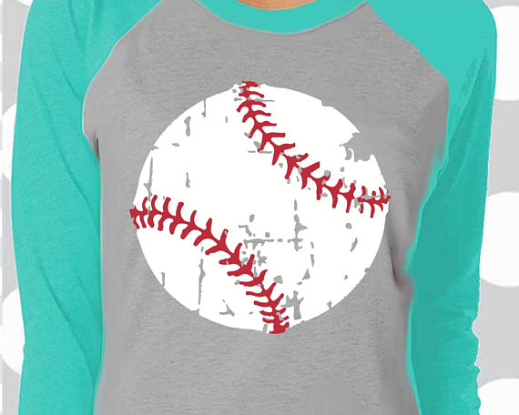 Distressed Softball Clipart.