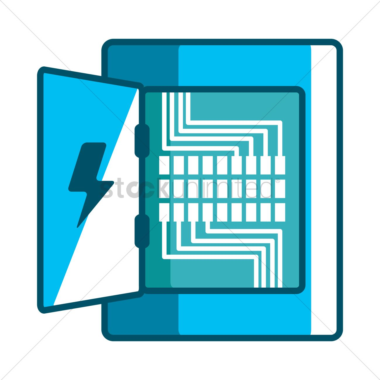 Electricity distribution box Vector Image.