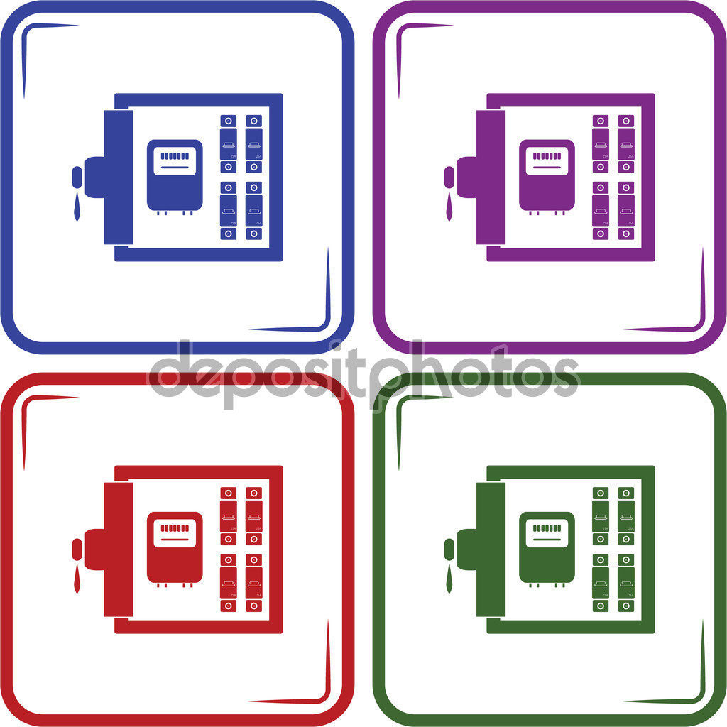 Electric distribution box vector icon — Stock Vector © SableVector.