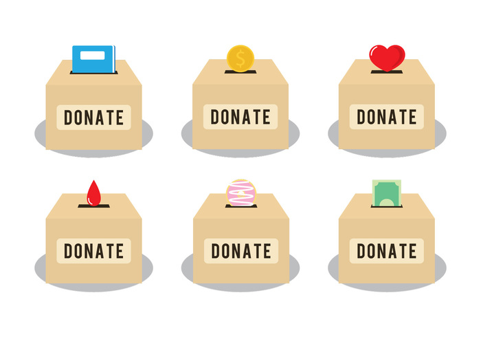 Donation distribution clipart.
