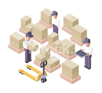 Warehouse Working Distribution Center premium clipart.