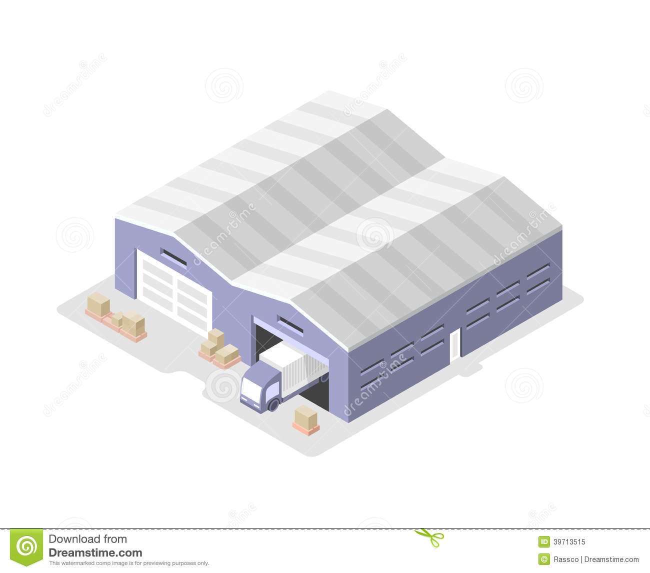 Warehousing And Distribution Clipart.