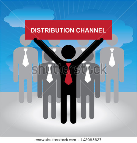 Distribution Chain Clipart.