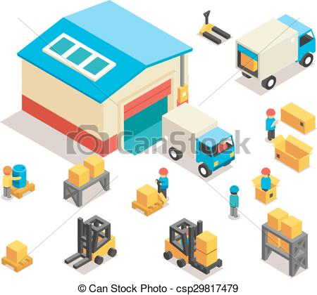 Distribution warehouse Vector Clipart EPS Images. 5,315.