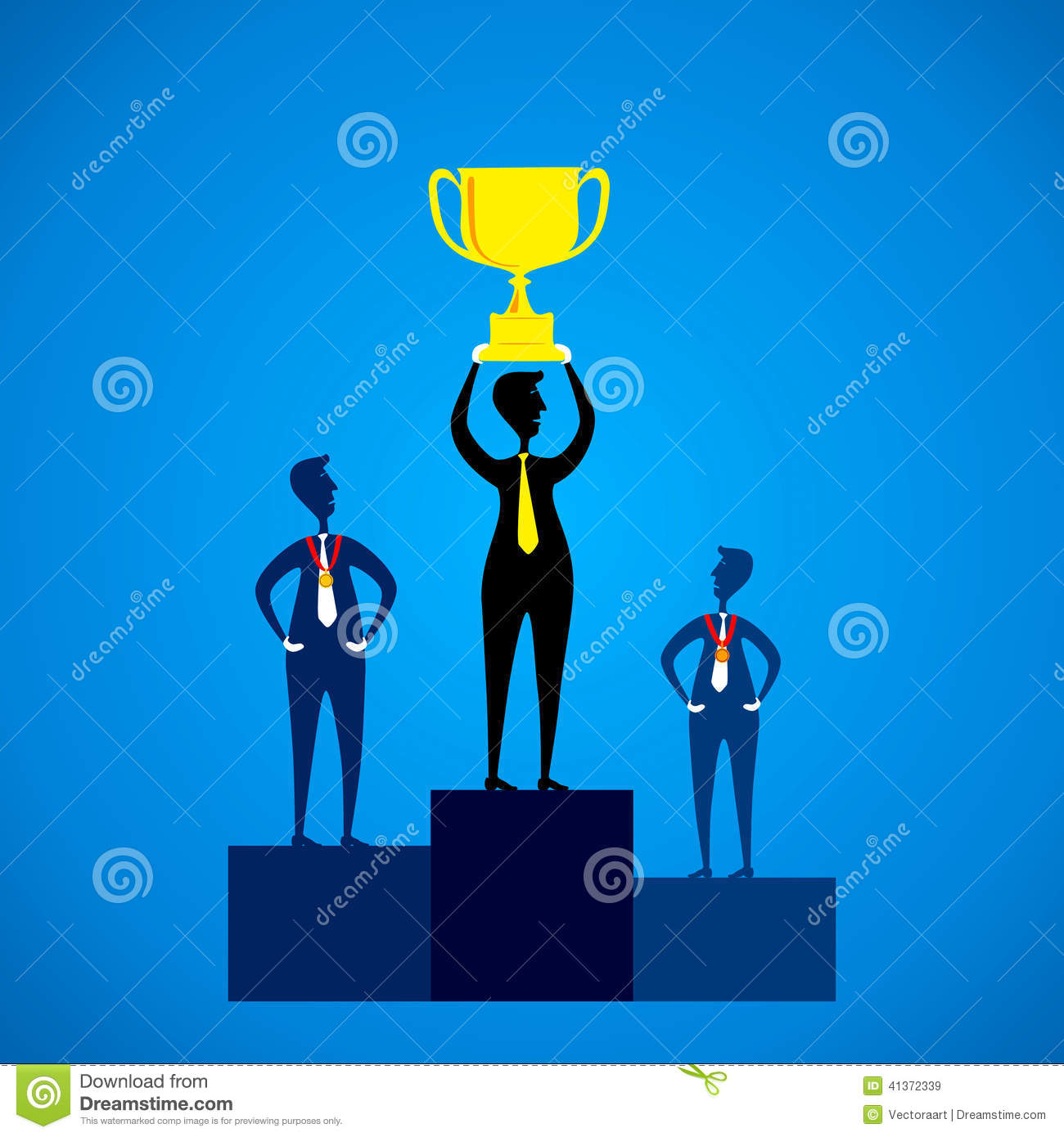 Prize Distribution Ceremony Stock Vector.