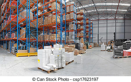 Stock Photographs of Distribution center.