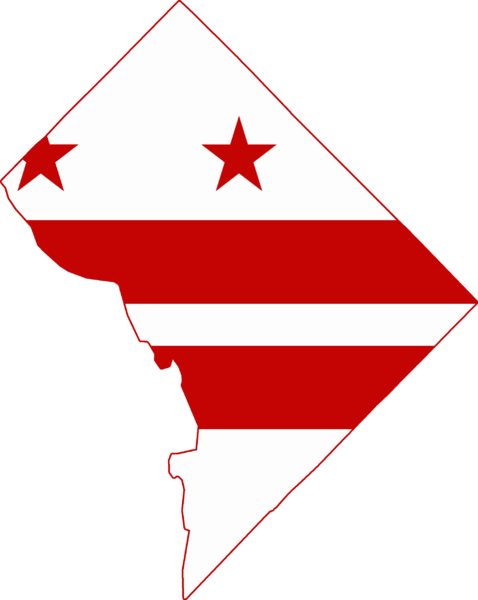 Washington dc map clip art.