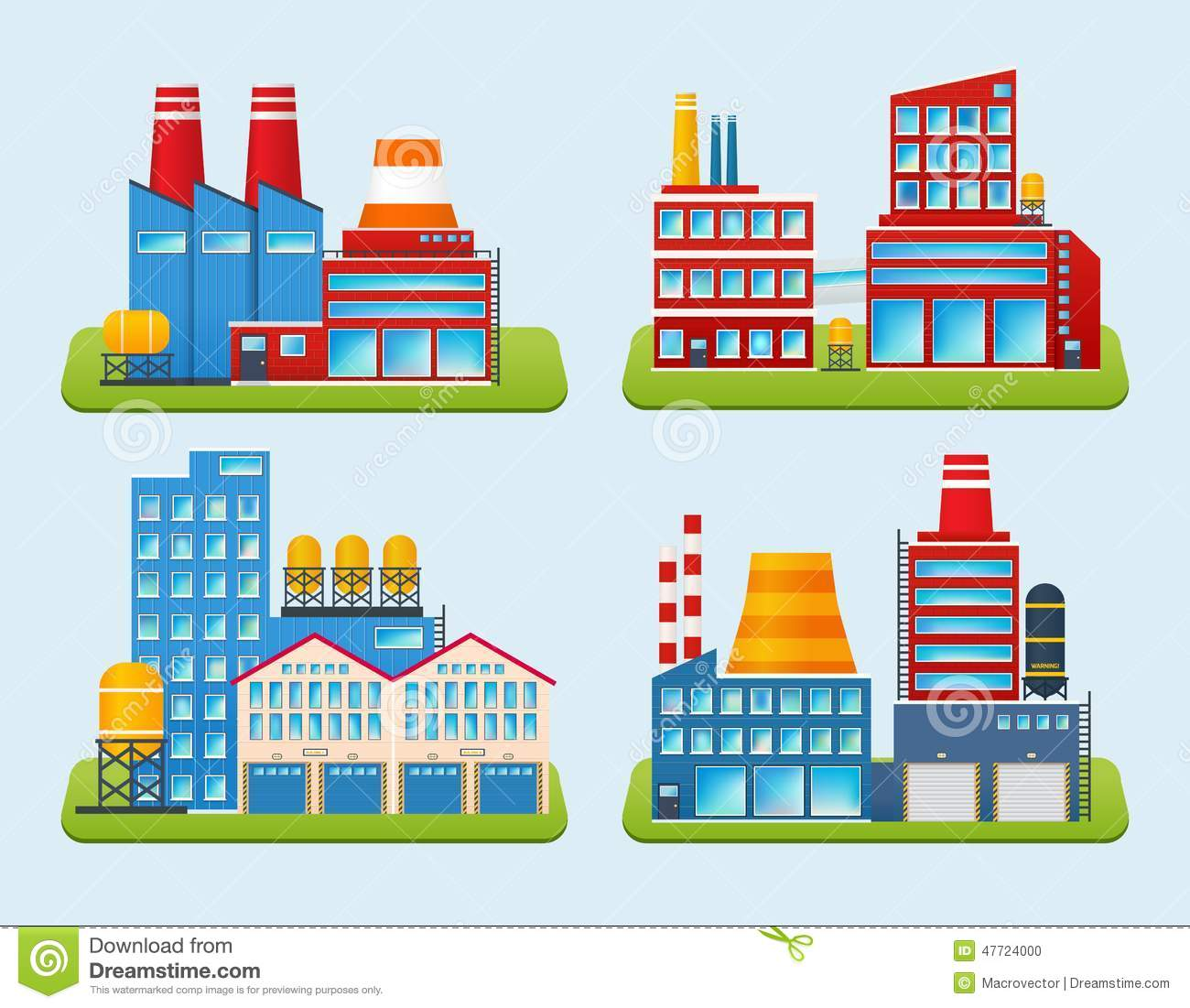 District Heating Station Stock Illustrations.