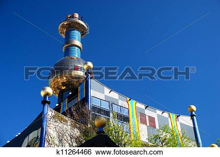 Stock Images of Hundertwasser district heating plan k11264466.