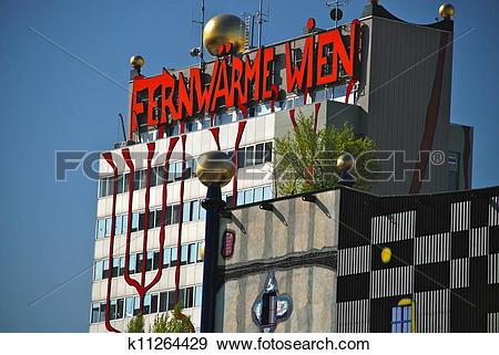 Stock Photograph of Hundertwasser district heating plan k11264429.