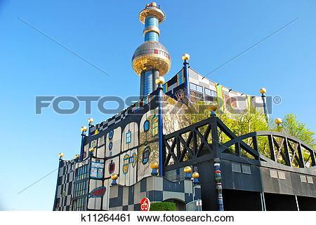 Stock Photography of Hundertwasser district heating plan k11264461.