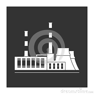 District Heating Power Plant Stock Illustrations.