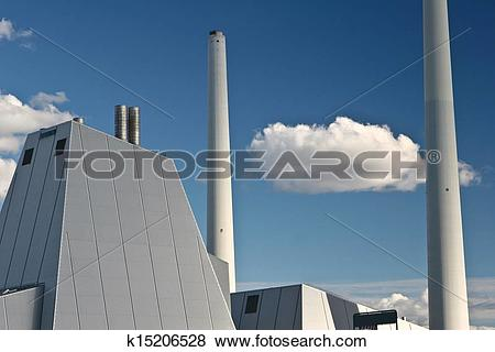 Pictures of Modern District heating plant in Denmark k15206528.