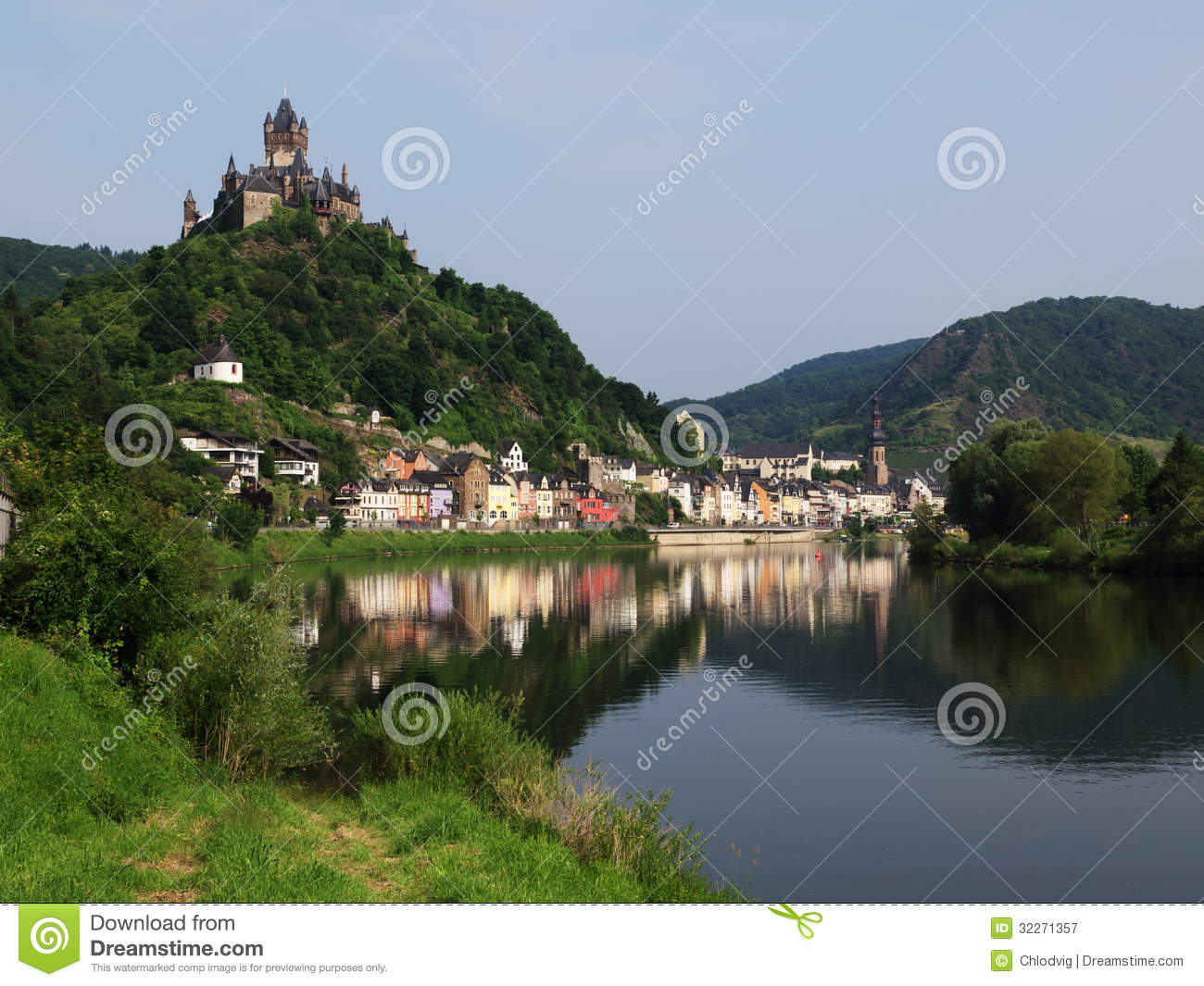 Cochem With Its Castle On River Moselle Royalty Free Stock.