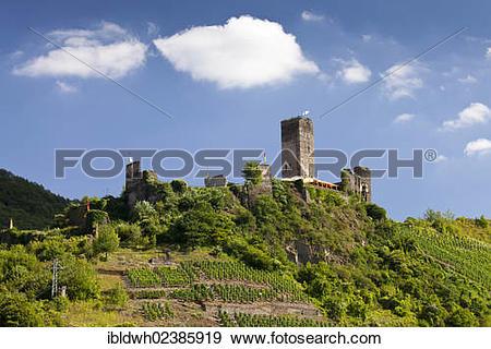 "Stock Photograph of ""Metternich Castle, Beilstein, Cochem."