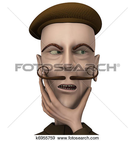Stock Illustration of teacher express distrust emotion on.