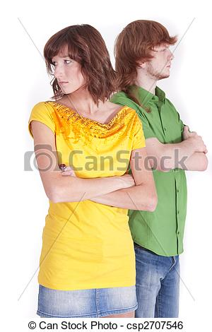 Stock Image of distrust in relationship.