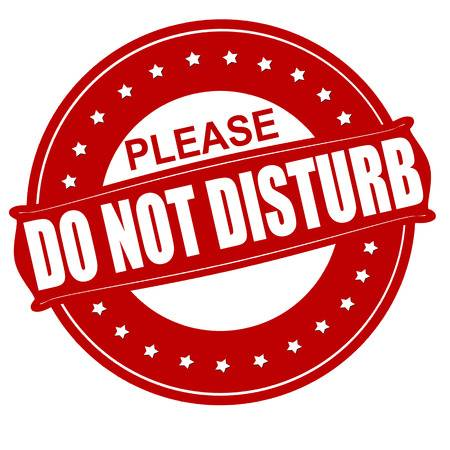 300 Please Do Not Disturb Stock Vector Illustration And Royalty Free.