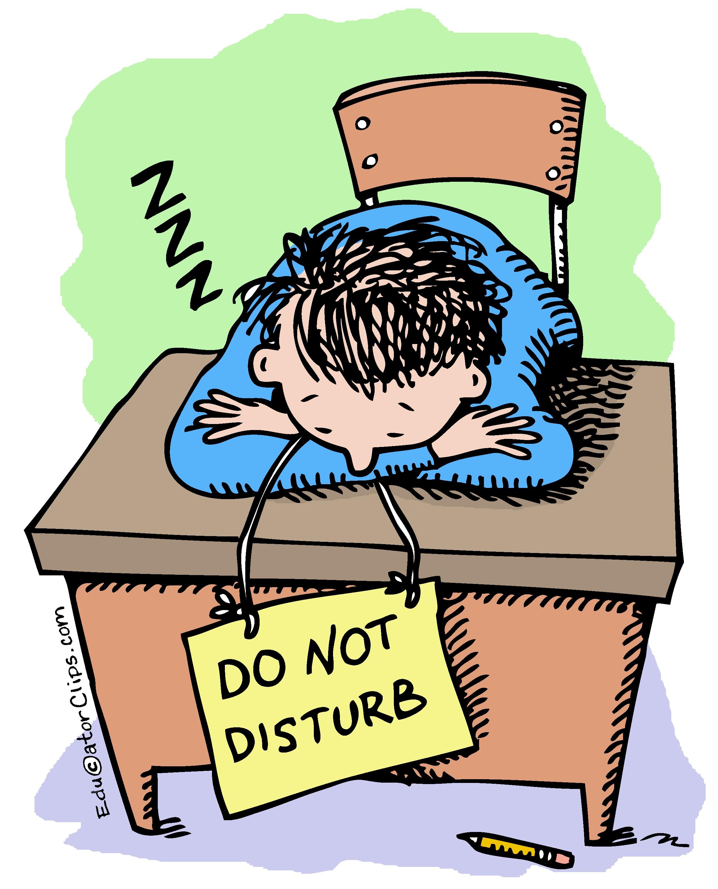 Do Not Disturb Student Clip Art.