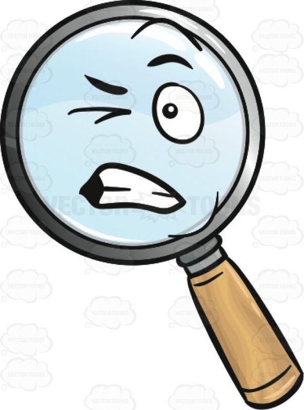 Disturbed Magnifying Glass Emoji #amplify #biting #blowup.