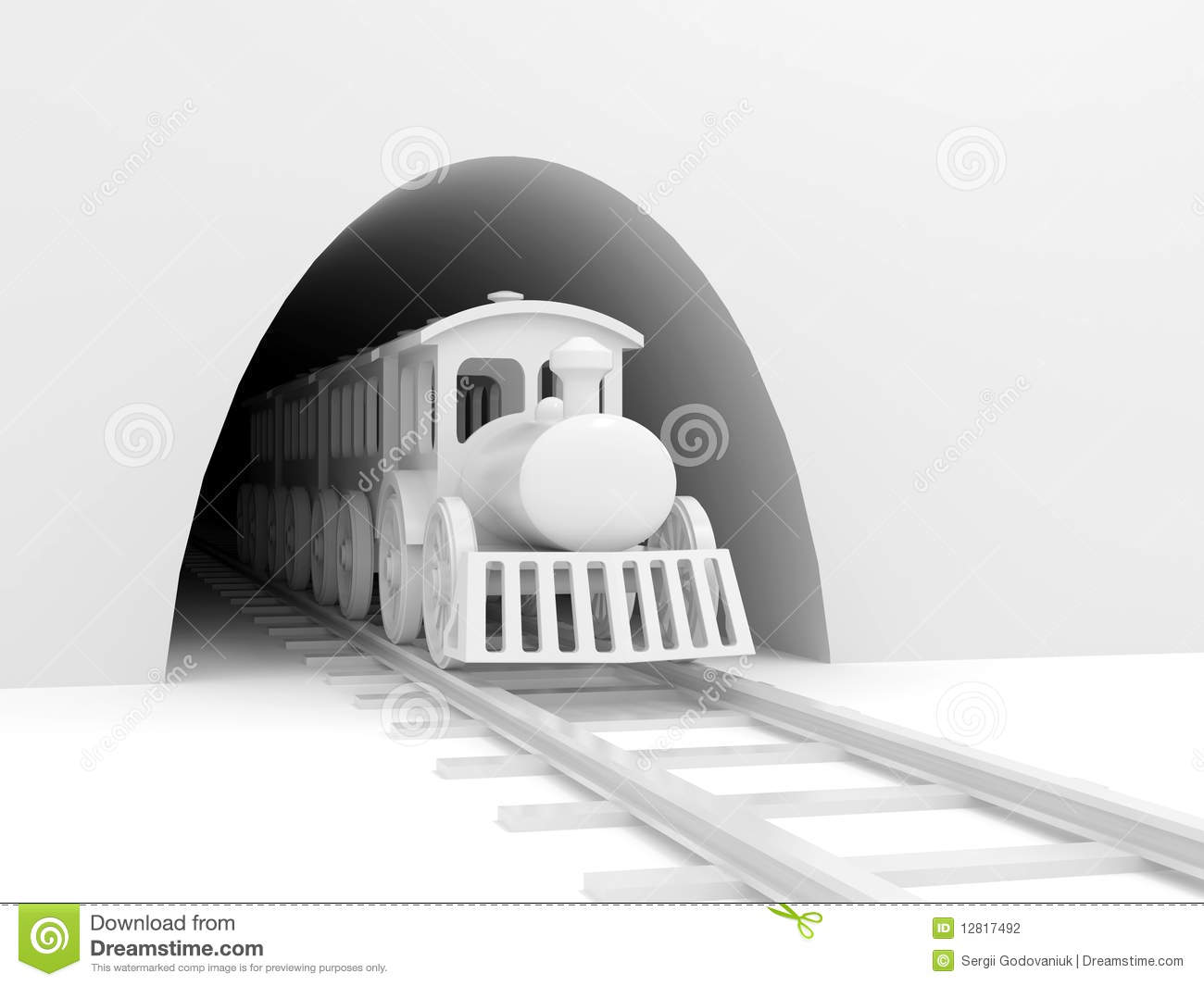 Disused Railway Tunnel Wall Stock Illustrations.