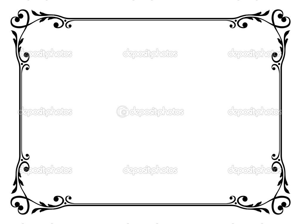 Kalligráfia díszítés díszítő keret szívvel — Stock Vektor © 100ker.
