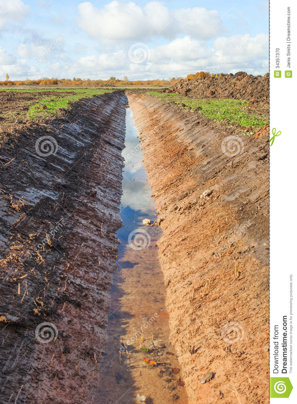 New Ditch. Stock Photo.