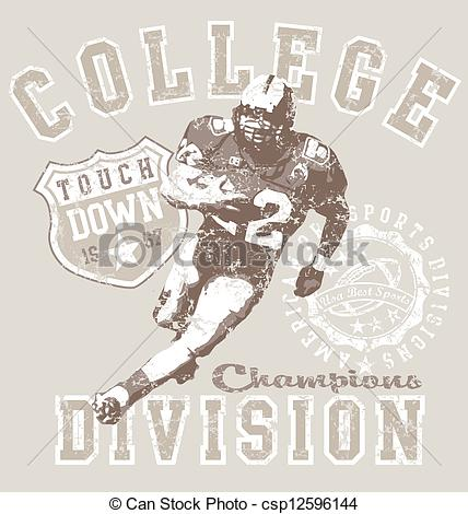 EPS Vector of college football div.