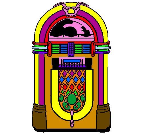 Jukebox Color Clipart.
