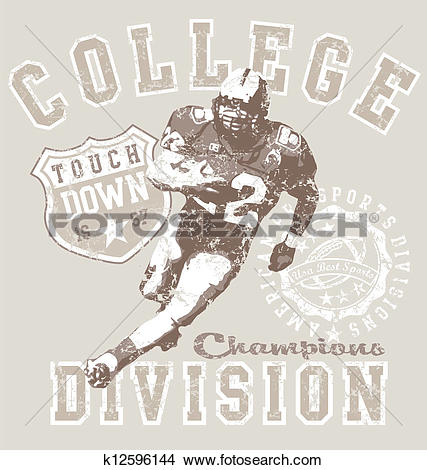 Clipart of college football div k12596144.