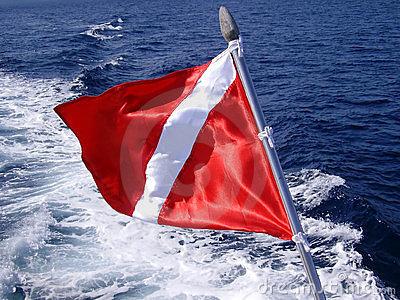 Scuba Diving Flag Clipart.