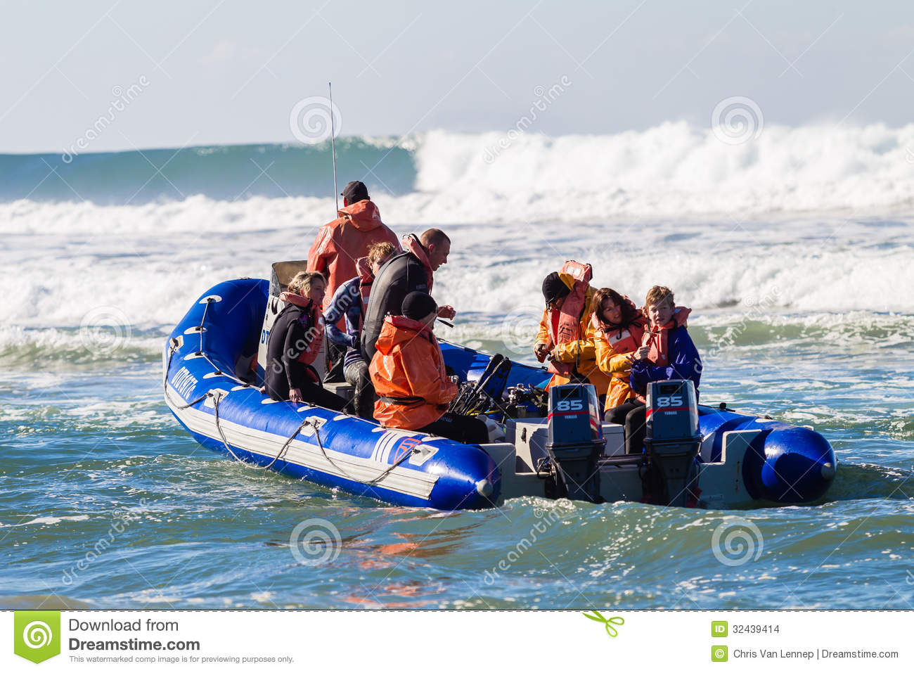 Boat With Divers Editorial Image.