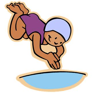Swim and dive clipart.