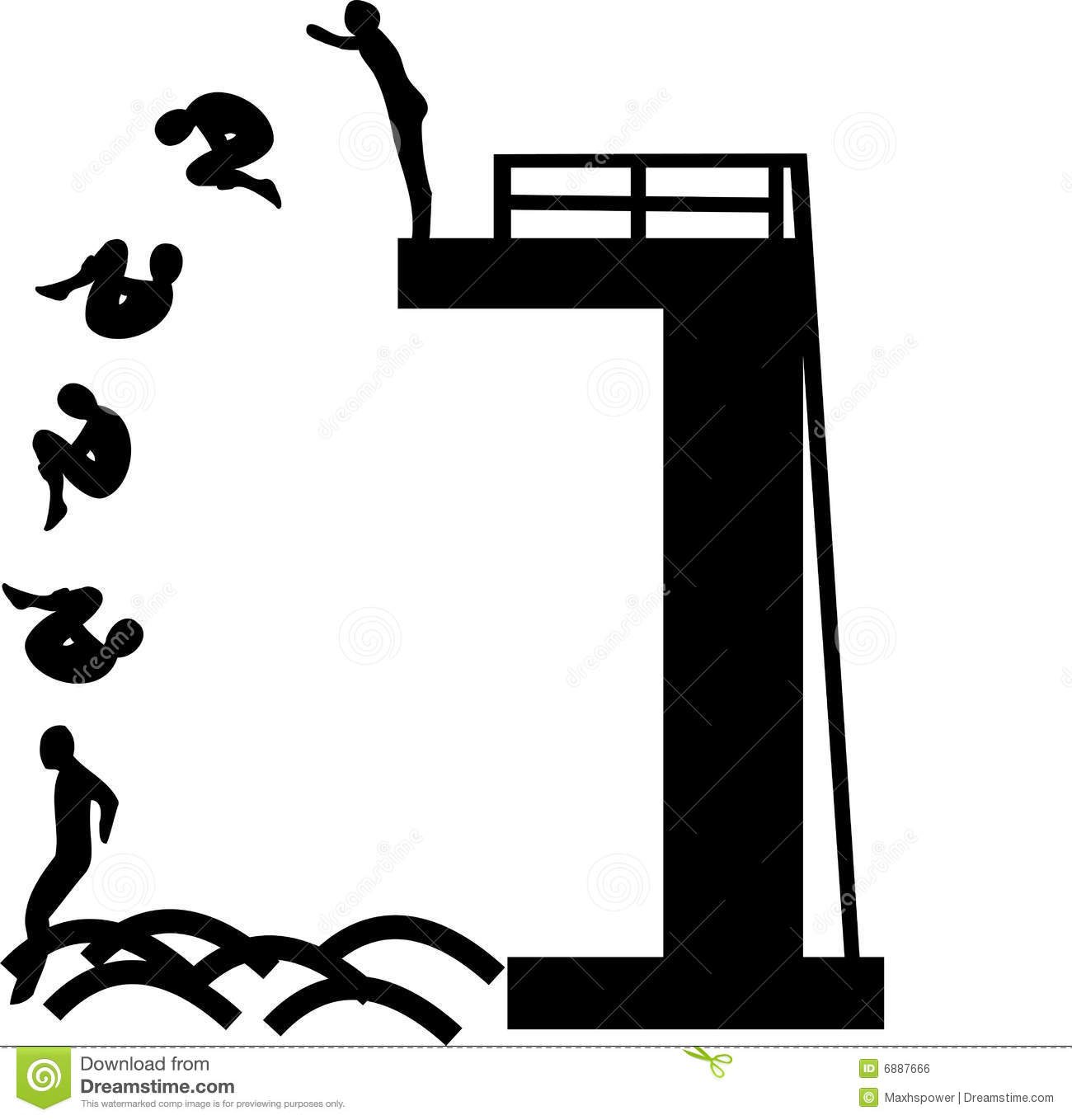 Diving Board Clipart.
