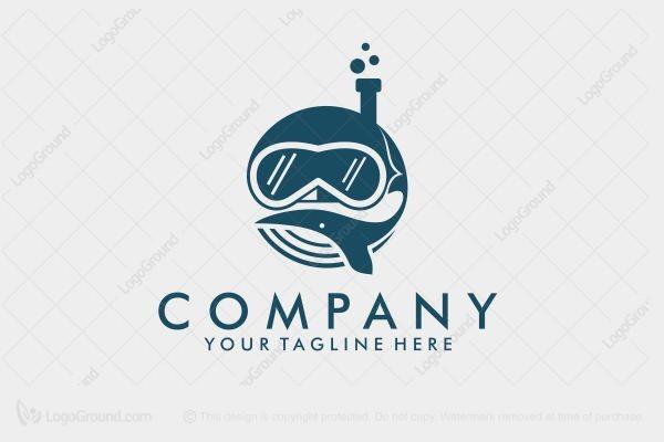 Exclusive Logo 179864, Whale Dive Logo.