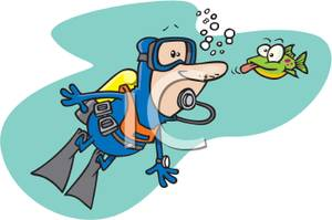 Diving Lessons Clip Art.